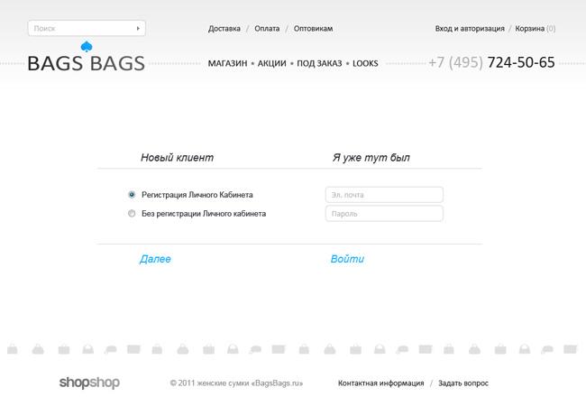 создание интернет-магазина BagsBags
